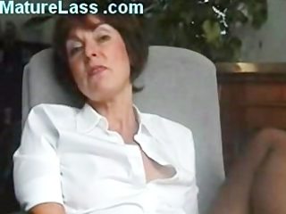 hot british grownup talks filthy and spreads foot