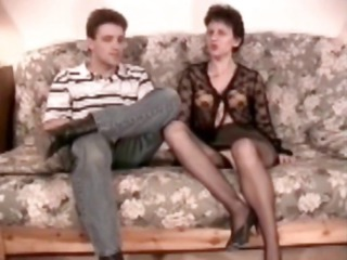 furry cougar analfucked into pantyhose