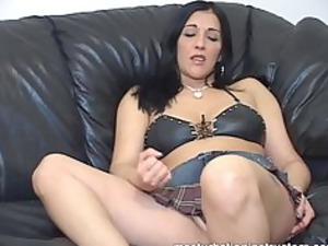jerk off professor demos masturbation with her