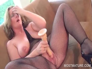 nasty grownup fucking a giant dildo