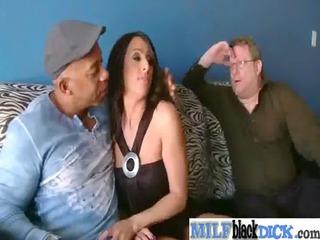 milf enjoy to gang bang uneasy brown dick vid-35
