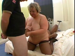 horny french heavy mature, carole, gets