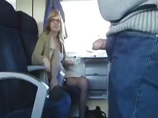 outdoor porn inside the train with desperate