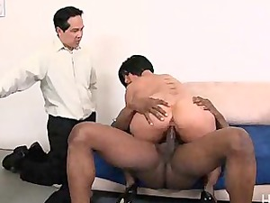 cuckold hubby watches her get large ebony penis