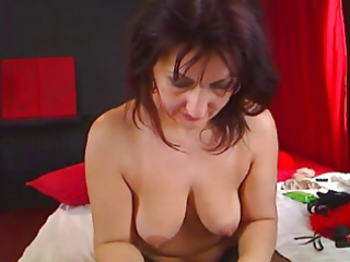 cougar masturbating for camera