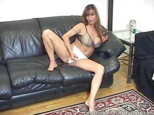jerk off professor spreads foot and demos