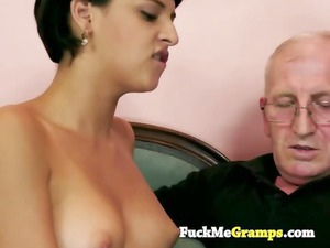 the elderly boy can teach her