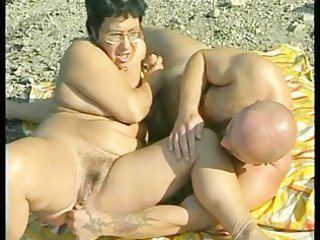 granny gets fucked at the sea coast
