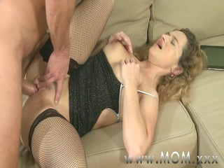 milf busty maiden is into the mood for gangbanging