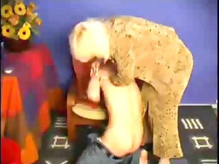 elderly mom spanks him and after that fucsk him