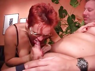 banged cougar inside glasses gangbangs fatty