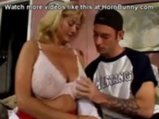 big titted woman fucks neighbor kid  hornbunny.com