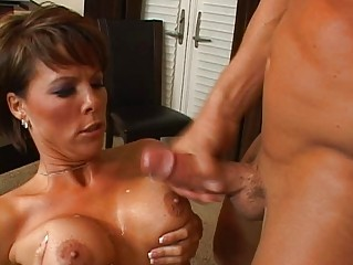 naughty brunette lady with giant bossom acquiring