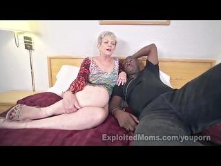 mature angel in cumshots interracial video