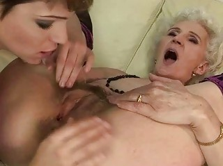 elderly likes dike fuck with fresh chick