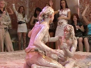 sweet looking mature babe sluts into lesbo mud