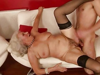lusty slutty elderly banging with a man