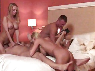 sweet bleached mature babes swinger group fuck