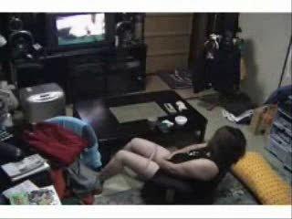 caught woman pushing dildo ! hidden cam