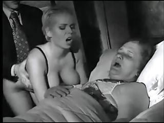 lady takes plowed on her ladies death bedstead
