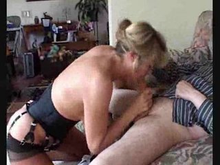horny mommy into pantyhose takes her cave tasted