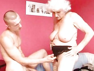 grownup elderly betty copulates inexperienced