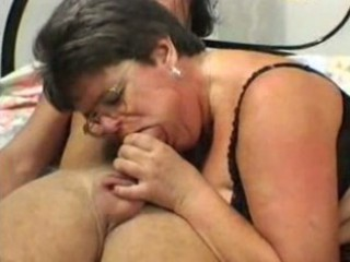 granny into glasses and pantyhose gangbangs