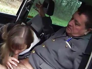 extremely impressive young banging with grandpa