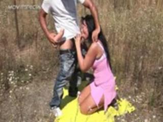 desperate mature babe gets pierced uneasy  outdoor