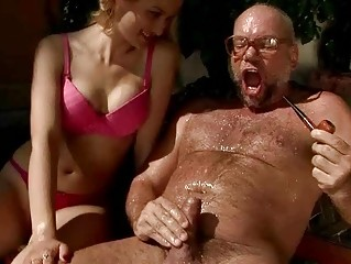 grandpa and amateur pissing and piercing