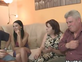 his gf is seduced by granny mom and fucked by