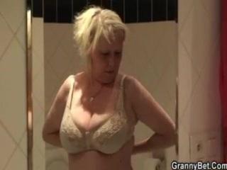 huge tits elderly fucked hard by amateur