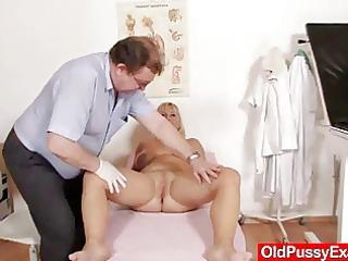 real huge bossom lady vagina gyno clinic exam