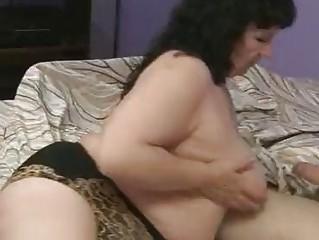 fat older  is drilling her granny boyfriend