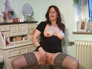 desperate woman enjoys into punish top nylons