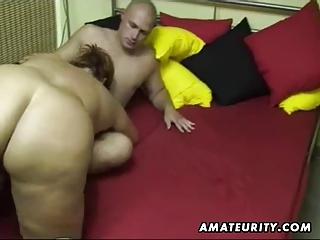 plump fresh woman licks and bangs at house