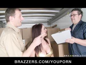 big tit wife brunette pornstar caught doing butt