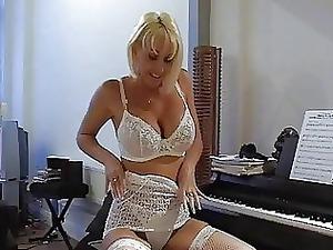 slutty blonde woman inside awesome punish bikini