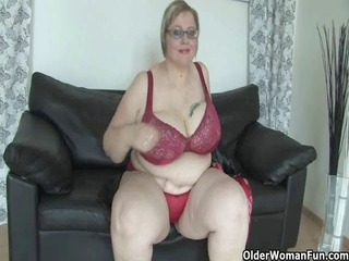 grown-up bbw with massive boobs pleases