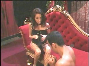 sweet brunette dominatrix foot bangs guy&s