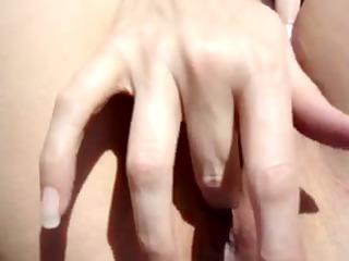 my wife fingers her vagina openair