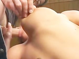 sharon da val - club maid fucked by two dudes
