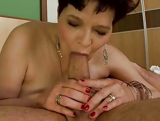 busty old does dick sucking and acquires banged