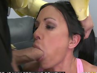 large breast brunette milf pornstar roughed up by