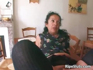 busty cougar whore twofold fucked as lone part6