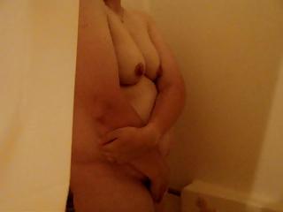bashful housewife into bathroom