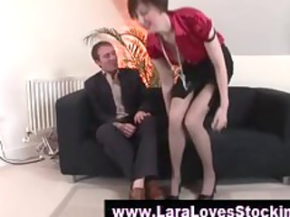nylons older chick into high heels