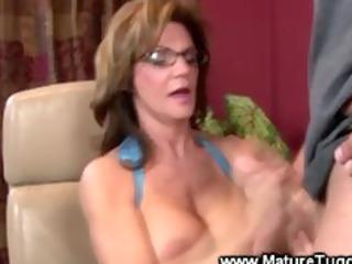 grownup lady massaging a libido