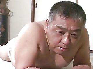 older  eastern  guy gets spanking