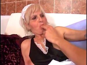 youthful boyfrend bangs an elderly granny